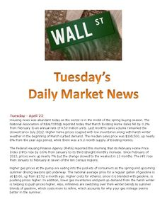 4-22-14 Tuesdays daily market news www.equitysourcemortgage.com