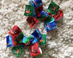 PJ Masks Hair Bow - pj masks, pj masks bows, pj masks party, pj masks Birthday, pj masks Party Favor, pj masks Loot bags, pj masks bow