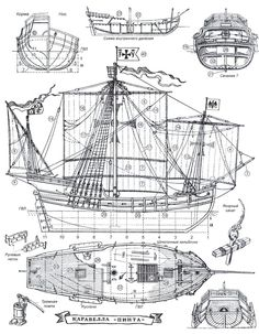 ЛЕГЕНДАРНАЯ ЭСКАДРА КОЛУМБА Model Sailing Ships, Old Sailing Ships, Model Ships, Model Ship Building, Boat Building, Black Pearl Ship, Ship Drawing, Make A Boat, Boat Kits
