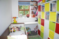 This baby's room has so much colour - perfect for the growing toddler! http://spr.ly/6008Ba2YK #KidsRooms #Baby #Toddler #Kids