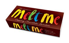 Melt Me is a terrific dipping chocolate, designed to melt on a BBQ as easily as an oven at low heat. We wanted to create a design that would 'interrupt' and reflect the fun, informality and mess of dipping into melted chocolate. I Love Chocolate, Chocolate Dipped, Melting Chocolate, Dipping Chocolate, Chocolate Fondue, Brand Packaging, Packaging Design, Chocolate Packaging, Creativity And Innovation