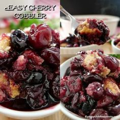 Easy Cherry Cobbler is a classic cherry cobbler recipe loaded with sweet, juicy . Easy Cherry Cobbler is a classic cherry cobbler recipe loaded with sweet, juicy cherries. A perfect summer cobbler dessert. 13 Desserts, Cherry Desserts, Delicious Desserts, Light Desserts, Baking Desserts, Yummy Food, Easy Cherry Cobbler, Fruit Cobbler, Sweet Cherry Cobbler Recipe