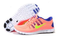 42a02b80cf Womens Nike Free 5.0 Running Shoes Pink Blue Yellow Yellow Shoes, Blue  Yellow, Pink