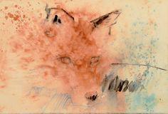 Volpe Luigi Barra 2016 56 x 37,5 cm Watercolor on cotton paper www.facebook.com/watercolourluigibarra