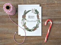 Rustikale Christmas card  Merry Christmas  von GreenDoorHandmade