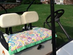 Golf Cart Seat Cover Quilt Bright Paisley by PrettifulCovers, $35.00