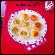 tartelettes abricot et citron chocolat.