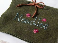 Needle Book Needle Case Felt Needle Book Hand by VintagePlusCrafts, $10.50