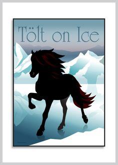Plakat med Istølt. Den islandske hest fra Ping Pong Posters