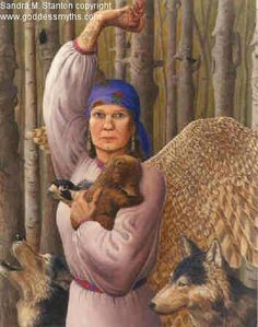 Samovila - Slavic Goddess of the woods who is the fierce protector of all animals. She has the ability to shapeshift into a falcon, horse, snake, swan or a whirlwind and would not hesitate to cause harm to anyone who threatens her creatures. She lives deep in the woods and has great knowledge of plant medicine.