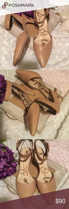 Sam Edelman nude pumps Okala pumps with ankle strap. Pristine condition. Worn once to the Atlanta Poshmark meet up. Buckles at ankle. Size 9. Comes with box. Sam Edelman Shoes Heels