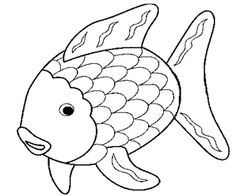 animals fish printable coloring pages preschool fish coloring pages pinterest coloring pages for kids drawings and children - Rainbow Fish Coloring Page