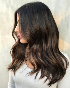 Long Wavy Ash-Brown Balayage - 20 Light Brown Hair Color Ideas for Your New Look - The Trending Hairstyle Brown Hair Tones, Brown Hair Cuts, Brown Ombre Hair, Brown Blonde Hair, Ombre Hair Color, Light Brown Hair, Hair Color Balayage, Brown Hair Colors, Brunette Hair