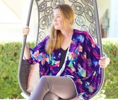 One Hour Kimono-Inspired Wrap, easy sewing, tutorial Diy Sewing Projects, Sewing Tutorials, Sewing Ideas, Sewing Tips, Craft Tutorials, Sewing Crafts, Sewing Patterns Free, Free Sewing, Kimono Fashion