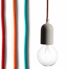 PENDANT LIGHT - CONCRETE Industrial Style, Lamp Light, Lighting Design, Concrete, Furniture Design, Water Bottle, Lights, Pendant, Modern