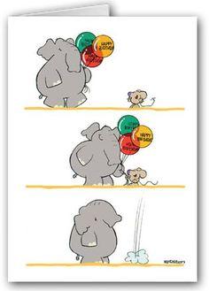 Resultado de imagen de happy birthday cards funny tarjetas de birthday funny cards elephant funny cute mouse m4hsunfo