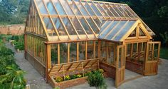 Get inspired ideas for your greenhouse. Build a cold-frame greenhouse. A cold-frame greenhouse is small but effective. Outdoor Greenhouse, Greenhouse Shed, Greenhouse Gardening, Hydroponic Gardening, Outdoor Gardens, Greenhouse Wedding, Greenhouse Heaters, Small Greenhouse, Greenhouse Vegetables