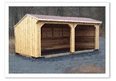 10 x 20  Frame Kit with Siding, Kick Board & Roofing Added.  All wood shed kits from Horizon Structures.