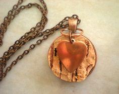 Wine Cork Necklace Cork Jewelry  Boho by MaddDoggofTomorrow, $22.00