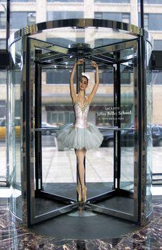 Creative Advertising Ballet school guerrilla marketing ad with revolving doors Creative Advertising, Guerrilla Advertising, School Advertising, Advertising Campaign, Advertising Design, Marketing And Advertising, Advertising Ideas, Marketing Ideas, Email Marketing