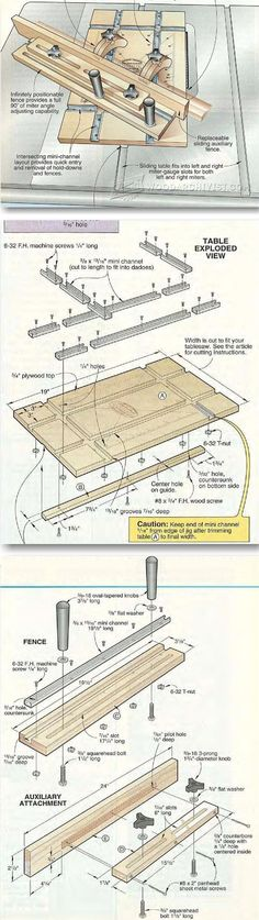 Table Saw Miter Sled Plans - Table Saw Tips, Jigs and Fixtures | WoodArchivist.com