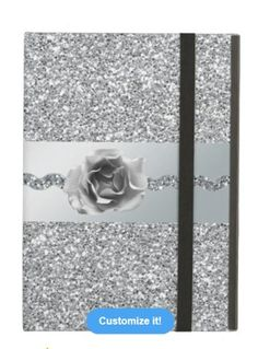 Silver Glitter Rose iPad Case Available at: http://www.zazzle.com/silver_glitter_rose_ipad_case-256246555509167831