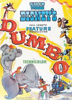 I love the Dumbo movie! c:The Dumbo Walt Disney Movie Poster Walt Disney Movies, Disney Movie Posters, Classic Movie Posters, Cinema Posters, Film Posters, Poster Frames, Disney Characters, Vintage Disney Posters, Vintage Movies