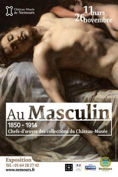 Au Masculin au Château-Musée de Nemours. Affiche