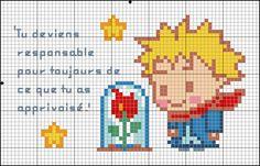 Le Petit Prince. Imagem - Altura x Largura: 37 x 62 | Tecido - Altura x Largura: 45 x 70. Quadro: 10x15.