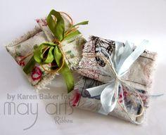 Cotton Vintage Printed Mini Gift Bags
