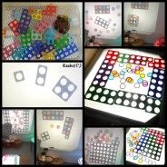 "Numicon and magnetic chips on the OHP from Rachel ("",)"