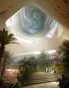 Riyadh Metro Station | Snohetta [Future Architecture: http://futuristicnews.com/category/future-architecture/]