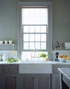 Kitchen sinks should always have a window rather than a wall