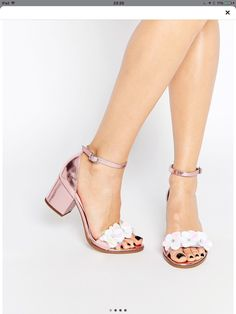 Asos hexagon embellished heel sandal // bridesmaid attire