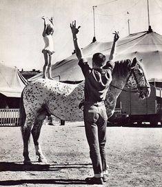 Proben, oefening in het circus.