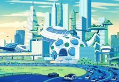 Showcase of Mind Blowing Concept Art of Futuristic Cities Space Illustration, Medical Illustration, Future City, Sci Fi City, Eco City, Poster City, Jem And The Holograms, Futuristic City, World Cities