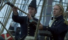 Glasses were available on deck for officers. Night glasses gave maginally clearer images but the images were upside down Peter Weir, Patrick O'brian, Master And Commander, James D'arcy, Navy Life, Sea Captain, Russell Crowe, O Brian, The Far Side