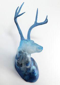 Katja Fritzsche , 'Blue Maple' - glass art