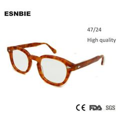32d7684e55 47mm High Quality Johnny Depp Glass Eyewear Frames Men Vintage Roundmodlilj  Rahmen