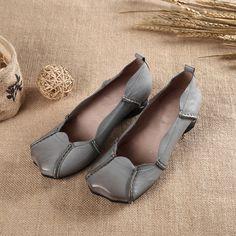 Women vintage leather shoes - Tkdress  - 1