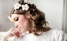 Flower Crown, Vintage Wedding, bridal accessory, wedding tiara, fairy wedding - ALANA  -. $70,00, via Etsy.