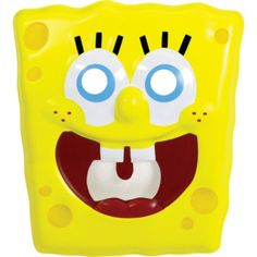 Plastic SpongeBob Mask - Party City.