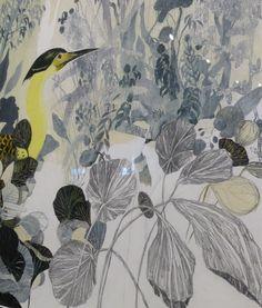 Exposition Carll Cneut : In My Head. Sint Pietersabdij, Gand. Dessin original pour l'album La Volière d'or (à paraître aux éditions de l'École des loisirs fin 2015)