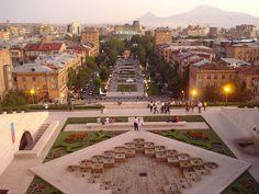 Yerevan City, Armenia, and Mount Ararat.