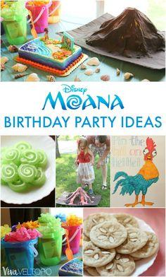 Adorable Moana birthday party ideas!