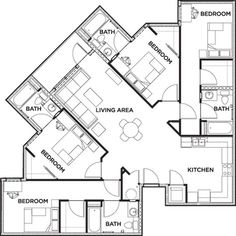 Bunkhouse Plans 407646203764800324 - Floor Plans – 2125 Franklin Student Apartments in Eugene, OR, near University of Oregon Source by veratta Simple House Plans, Dream House Plans, House Floor Plans, Unique Floor Plans, Student Apartment, Student House, School Floor Plan, Student Dormitory, Apartment Floor Plans