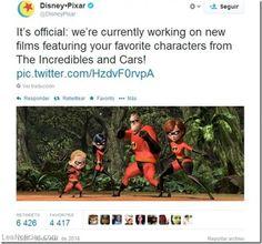 Pixar anuncia nuevas entregas de Los Increíbles y Cars - http://www.leanoticias.com/2014/03/19/pixar-anuncia-nuevas-entregas-de-los-increibles-y-cars/