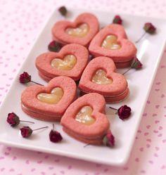 Sablés coeurs au lemon curd - Recettes de cuisine Ôdélices