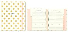 Amazon.com : Kate Spade Agenda 2014 - Gold Poka Dots : Appointment Books And Planners : Office Products
