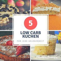 Du musst nicht auf einen Anlass warten, um einen Low Carb Kuchen zu backen. Diese 5 Low Carb Kuchen können zu jeder Gelegenheit genossen werden! Natürlich glutenfrei, ohne Zucker, einfach, schnell und garantiert lecker!
